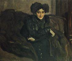 Henrietta Girshman, 1907 Valentin Alexandrovich Serov - Russian DETAIL