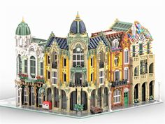 creates these amazing buildings check them out! Reposted from - Build your Art Nouveau neighbourhood with Minerals Shop Post Office and Casa Brickllo! Lego Winter, Lego Film, Lego Modular, Lego Disney Princess, Lego Design, Legoland, Lego Ninjago, Casa Lego, Construction Lego