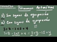 Polinomios aritméticos parte 1 (problemas sin signos de agrupación) Signs, Arabic Calligraphy, Math Equations, Studio, Shop Signs, Arabic Calligraphy Art, Sign