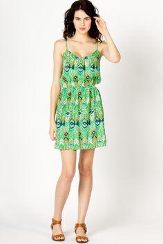 Green Ikat Dress $68