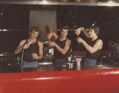 The bar boys in Studio 54