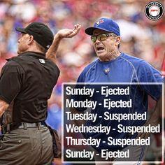 What a week it has been for John Gibbons. (H/T ArashMadani/Twitter) May 22, Baseball, Twitter, Instagram Posts, Sports, Baseball Promposals, Hs Sports, Sport