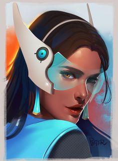 Overwatch Portraits - Created by Peter Xiao Overwatch Symmetra, Widowmaker, Overwatch Drawings, Chun Li, Video Game Art, Video Games, Overwatch Females, Overwatch Community, Overwatch Wallpapers