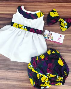 Ankara Baby Dress Baby African Clothes, African Dresses For Kids, African Babies, African Fashion Ankara, African Print Fashion, African Style, Baby Girl Dress Patterns, Baby Dress, Cute Girl Dresses
