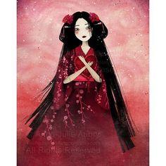 "SnapWidget   ""Kumiko"" ❤️ #annejulieaubry #thenebulouskingdom #love #valentinesday #saintvalentin #geisha #rose #heart #illustration #art #japan"