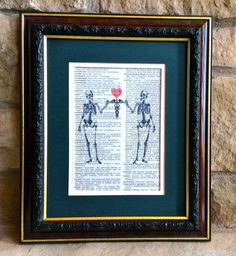 Unique Doctor or RN Nurse Gift  Two Skeletons by MusicLadyGifts