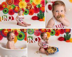 Little Blooms Photography LLC - Kennett Square Twin Cake Smash, Twins Cake, Birthday Cake Smash, Taco Cake, Cake Smash Pictures, Fiesta Cake, Cactus Cake, Flower Birthday, Taco Party