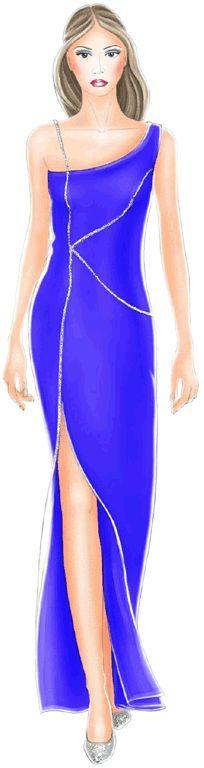 preview - #5214 Blue dress