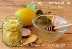 Sciroppo limone zenzero miele senza cottura, rimedio naturale fatto in casa contro tosse, raffreddore,mal di gola e influenza. 2 cucchiaini in acqua calda