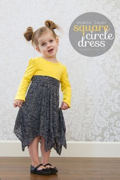 Double Layer SQUARE Circle Dress (added onto a T-shirt): ok one day I have to make this. Just haven't been in a sewing mood. Dress Tutorials, Sewing Tutorials, Sewing Patterns, Skirt Patterns, Sewing Projects, Blouse Patterns, Diy Clothing, Sewing Clothes, Dress Sewing