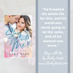 From Stay with Me, Misty River Romance novel #1 by Becky Wade. I'm a hopeless romantic and I love writing romantic stories! #contemporary #Georgia #romance #book
