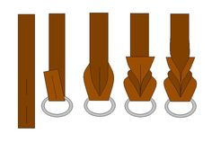 A picture tutorial of homemade leather leashes with braided ends.As promised, a DIY pictorial of how to braid the ends of a leather leash: Materials Needed: A utility knife, Latigo strap, and a leash clip I slid.Arts And Crafts TargetClick this image Leather Art, Sewing Leather, Leather Cuffs, Leather Design, Leather Tooling, Diy Leather Bracelet, Leather Keychain, Leather Earrings, Leather Jewelry