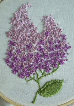 french knot lilacs