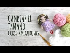 Curso Amigurumis - Cómo Cambiar el Tamaño del Amigurumi Knitting For Dummies, Amigurumi Tutorial, Knitted Animals, Crochet Videos, Crochet Dolls, Crochet Gifts, Diy Crochet, Love Crochet, Crochet Baby