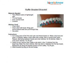 Crochet Bead Bracelet Patterns