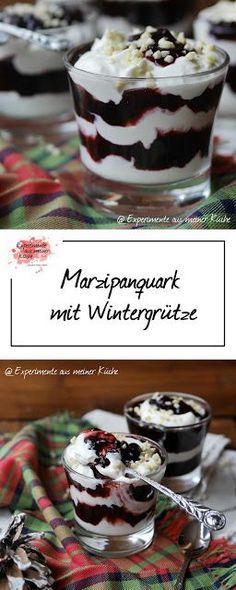 Marzipanquark mit Wintergrütze | Rezept | Essen | Dessert | Weihnachten