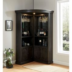 Copper Grove Groenlo Transitional Grey Curio Cabinet, Gray, Furniture of America Corner China Cabinets, Wine Cabinets, Curio Cabinets, China Cabinet Bar, Built In Bar Cabinet, Display Cabinets, Cupboards, Bar Sala, Corner Curio