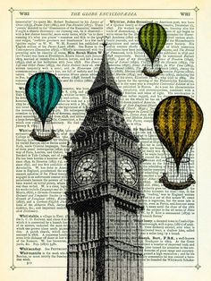 Big Ben and Balloons, Marion McConaghie Prints from Easyart.com