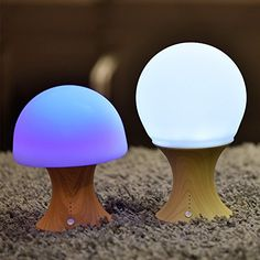 Mushroom Lamp Meco Baby Night Light Colorful Nursery Silicone Bedroom Rechargeable Color Changing For Be Sure To