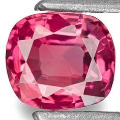 0.42-Carat Flawless Bright Pinkish Red Cushion-Cut Ruby (UH)
