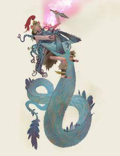Medusa + Perseus   Illustrator: Timothy J Lamb