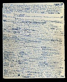 Dickens prefered blue ink because it did not require blotting.  The Odd Habits and Curious Customs of Famous Writers | Brain Pickings