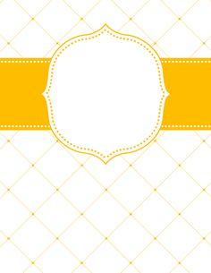 Yellow Lattice Binder Cover