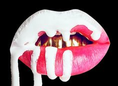 lips, kylie jenner, and art image