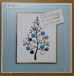 Woodware Christmas tree stamp