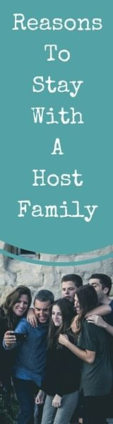 Reasons To Stay With A Host Family during your Study Abroad Semester or Year, Internship abroad or language course.