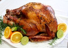 Rosemary Citrus Turkey by www.whatscookingwithruthie.com