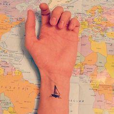 Little sailing boat