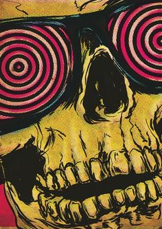 Find images and videos about art, illustration and skull on We Heart It - the app to get lost in what you love. Kunst Inspo, Art Inspo, Art Pop, Arte Horror, Horror Art, Psychedelic Art, Jasper Johns, Skeleton Art, Guache