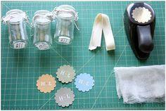 DIY Project: Honey Jar Wedding Favor via One Hitched Lane