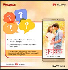 HUAWEI Contest Chance to Win Premier Show TICKET,Smartphones  http://www.contestnews.in/huawei-contest-chance-to-win-premier-show-ticketsmartphones/