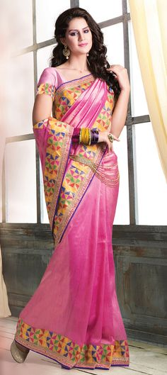 153259: MOSAIC PRINTS - check out this new collection of #saree with amazing prints for #SS15. Order at flat 15% off.