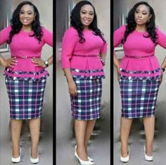 CHECK OUT THESE PENCIL SKIRT FOR YOUR OFFICE OUTFIT - African Fashion Ville