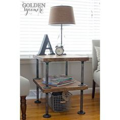 "<a href=""http://www.thegoldensycamore.com/2013/03/knock-off-industrial-side-table.html"" target=""_blank""><b>The Golden Sycamore</b></a>…<b>Now this gorgeous Knock-Off Industrial Side Table would be perfect in any home and Allison over at The Golden Sycamore you will get the detailed DIY so you can have one of these beauties in your home!  Enjoy your visit…it is a blog filled with goodies!</b>"
