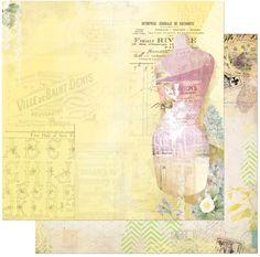 Bo Bunny - C'est la Vie Collection - 12 x 12 Double Sided Paper - C'est la Vie