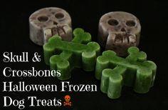 Skull and Crossbones Halloween Frozen Dog Treats