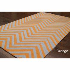 Handmade Alexa Chevron Wool Rug (5' x 8') | Overstock.com