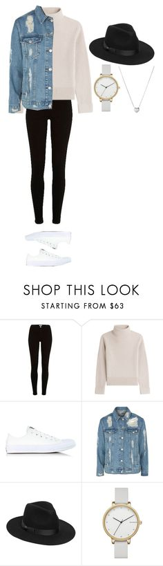"""""""Untitled #378"""" by dutchfashionlover ❤ liked on Polyvore featuring River Island, Vanessa Seward, Converse, Topshop, Lack of Color, Skagen, Links of London and casual"""