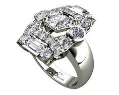 Art Deco Engagement Rings Melbourne - stunning diamond rings