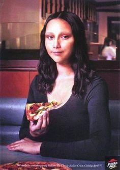 Anúncio Monalisa Pizza Hut