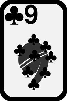 9 ♣ - Nine of Clubs