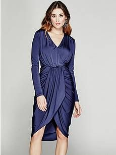 Arina Draped Dress | GUESS.ca