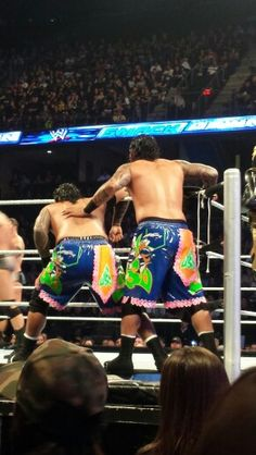 Jimmy & Jey Uso. All I got is backs....sorry guys.