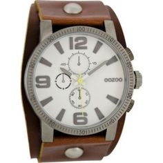 OOZOO Timepieces Brown Leather Strap C6476