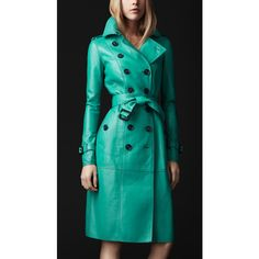 Burberry Prorsum Bonded Leather Trench Coat, for when I have an extra 5k hanging around