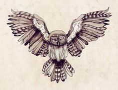 owl with open wings tattoo - Google leit